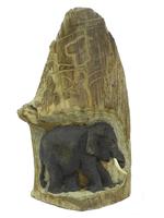 Слоны тиковые в дереве, 2 вида (ст-64)