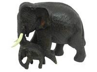 Слон тиковый с ребенком, Таиланд, (ст-48)