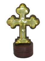Крест шишам с латунью (кш-10)