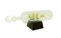 Морская тематика: стеклянный корабль в бутылке (мт-11)
