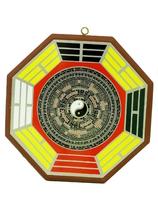 Пентаграмма деревянная с инь-янь  (п-09)