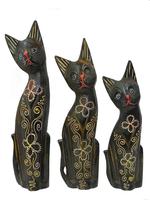Набор небольших тонких котов, 4 цвета (кн-140, кн-141, кн-142)