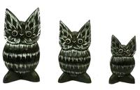 Набор сов, уши острые, 3 цвета (с-210, с-211, с-212)