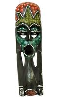 Человек с черной маской с орнаментом (ми-11)