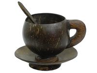 Кокосовая чашка с блюдцем (ки-18)