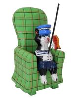 Кот-рыбак в шапке матроса в кресле (кр-04)