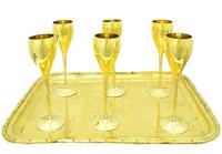 Набор рюмок золотого цвета (нр-16)