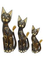 Набор коричневых котов с ракушками на теле (кн-149, кн-150, кн-151)
