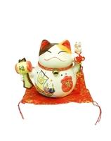Котик на красном мешке - копилка, Манэки-нэко (км-64)