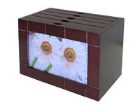 Фоторамка на 4 отделения, квадратная с насечками, 2 цвета (фр-09)