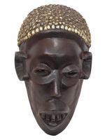 Маска африканская ритуальная, племя Маконда, дерево цейба (мэ-24-03)