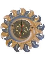 Солнышко и месяц с видом часиков, 3 цвета (си-40)