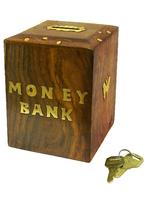 """Копилка деревянная с надписью """"Money Bank"""" (кд-56)"""