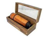 Телескоп латунный в деревянном боксе (тл-34)