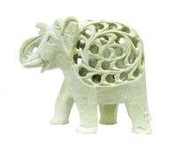 Слон каменный резной с отверстиями, со слоником внутри (ск-50)