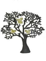Дерево латунное с птицами на ветвях, 2 цвета (дл-04)
