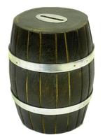 Копилка деревянная: бочка шишам с якорем (кд-55)