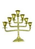 Подсвечник латунный на 7 свечей (пл-28)