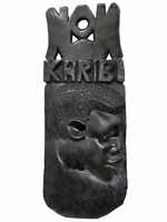"Панно эбеновое ""Karibu"" с африканцем (пэ-16)"