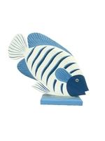 Рыба 3 цвета на ракушке (р-109)