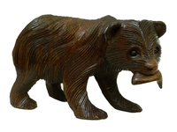 Медведь маленький идет с рыбкой в зубах, 2 вида (мс-09)