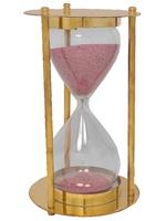 Часы песочные латунные, (Индия), (чп-08)