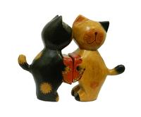 "Два котика/зайчика держат сердце - ""Я тебя люблю"" (набор), 5 видов (кн-31)"