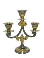 Подсвечник латунный на 3 свечи (пл-78)