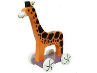 Животные на колесах: лошадь, жираф, слон (жк-03)