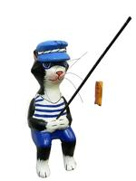 Кот-рыбак удящий рыбу, 3 цвета (кр-01)