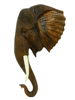 Маска слона суара с резьбой кожи (мс-21)