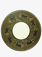 Солнышко с ящерицами/рыбами, в центре зеркало (си-91)