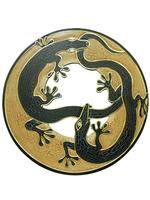 Солнышко с 2 ящерицами и зеркалом (си-48)