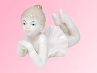 Керамическая фигура: девочка-балерина, 2 вида (кф-18)