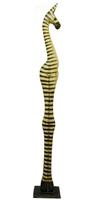 Зебра натурального  цвета, ноги вместе (з-19)