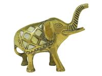 Слон латунный с перламутром (сл-24б)