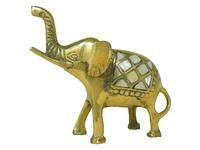Слон латунный с перламутром (сл-23)