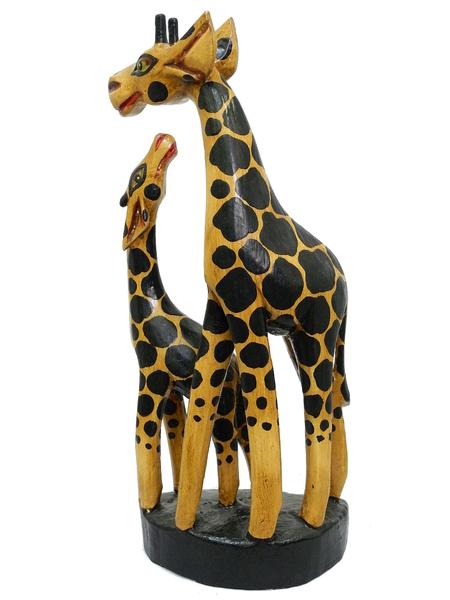 Два небольших жирафа на подставке (ж-92)