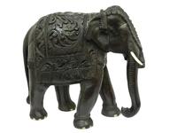 Слон палисандр резной, хобот вниз (сп-08)