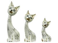 Набор котов, голова наискось, 3 цвета (к-114, к-115, к-116)
