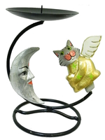Подсвечник с котом ангелом балса, 2 вида (пс-16)