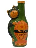 Пивная бутылка со змеей/котом  (к-05)