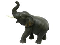 Слон тиковый, хобот вверх и закручен (ст-55)