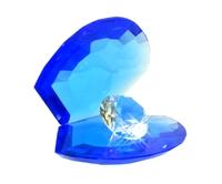 Хрустальные изделия: жемчужина с бриллиантом (хи-08)