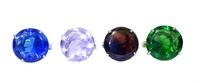 Хрустальные изделия: кристалл в кольце, крупные грани (хи-06)