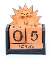 Календарь: деревянные кубики средние (к-43)