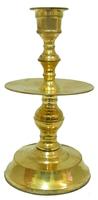 Подсвечник латунный золотой (пл-35)