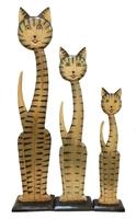 Набор из 3 плоских котов (к-745, 746, 747)