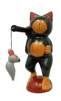 Кот несёт на коромысле мышек (к-356)