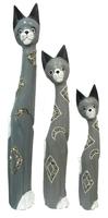 Набор из 3 котов с камешками (к-310, к-311, к-312)